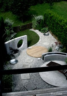 garden planning ideas drawing You are in the right place about shade Garden Planning Here we offer you the most beautiful pictures about the Garden Planning seed starting you ar Patio Circular, Circular Garden Design, Zen Garden Design, Landscape Design, Diy Pergola, Cheap Pergola, Pergola Kits, Small Gardens, Outdoor Gardens