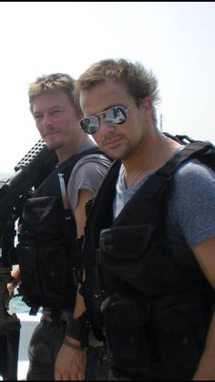 Norman Reedus and Sean Patrick Flanery USO Tour Fall 2010 Fear The Walking, Walking Dead, Sean Patrick Flanery, Tom Payne, Hot Actors, About Time Movie, Daryl Dixon, Norman Reedus, Attractive Men