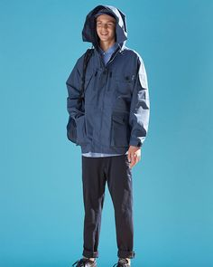 nanamica 2020 spring and summer look Lounge Underwear, Brand Store, Summer Looks, How To Look Better, Rain Jacket, Windbreaker, Raincoat, Menswear, Poses