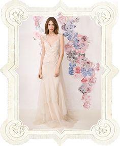 the dress. the flower illustration.