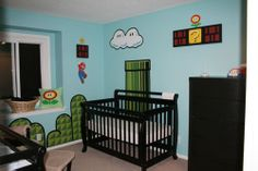 Super Mario baby boys nursery - Baby Boy Nursery Rooms Interior Ideas - Dobel