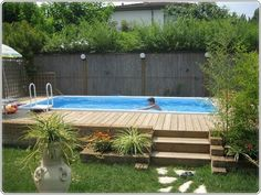 Decorating A Deck Around An Above Ground Pool.Decks: Amazing Above Ground Pool Deck Kits For Your . Outdoor: Interesting Landscaping Around Above Ground Pool . 17 Ways To Add Style To An Above Ground Pool HGTV's . Home and Family