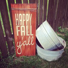 Happy Fall Y'all Texas Spelling Fall decor sign for by AnniesBarn, $70.00