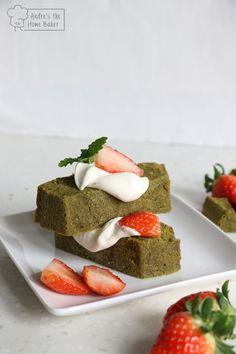 Andre's the Home Baker: ♥ Strawberry Matcha Pound Cake Shortcake ♥