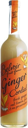 @Belvoir Fruit Farms Ginger Cordial, Rhubarb Schnapps, Ice, Fresh lime and soda water - perfect festive tipple!