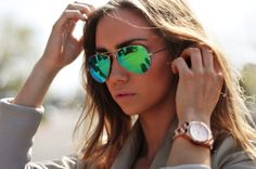 Green mirrored aviators - I will have these by Spring!