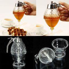 200ML Honigspender Honigdose Honiggläser Honigtopf Spender Pumpe Honig Behälter
