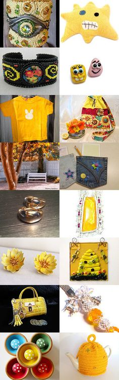 Bring Back the Sunshine by Grandma G. on Etsy--Pinned with TreasuryPin.com #yellowgiftguide