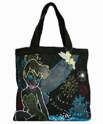 Disney TinkerBell  Stars Pixie Tote Bag Purse Shopper Loungefly HTF Nwt