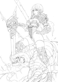 ArtStation – Character concept art, Daeho Cha – Art Drawing Tips Fantasy Character Design, Character Concept, Character Art, Concept Art, Comic Kunst, Comic Art, Fantasy Kunst, Fantasy Art, Manga Art