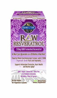 Garden of Life Raw Resveratrol Multivitamins, 60 Count