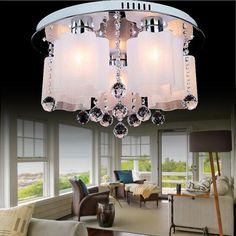 Modern Crystal Glass Living Room Ceiling Lamp Bedroom Ceiling Lamp Study Room Ceiling Lamp