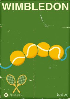 Wimbledon 2015 poster - www.paulthurlby.com
