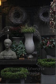 Tuin in herfst winter stijl