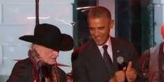 Obama Sings 'On The Road Again' With WIllie Nelson
