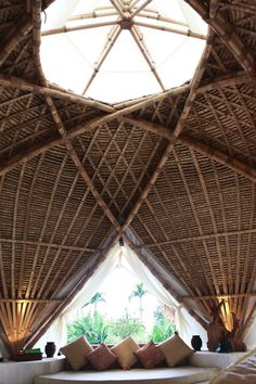Bamboo House Bali, Bamboo Roof, Bamboo House Design, Bamboo Bar, Conceptual Model Architecture, Bamboo Architecture, Sustainable Architecture, Residential Architecture, Contemporary Architecture