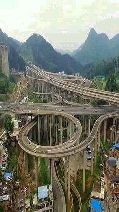 Futuristic Architecture, Amazing Architecture, Architecture Exam, Places To Travel, Places To See, Places Around The World, Around The Worlds, Scary Bridges, Guiyang