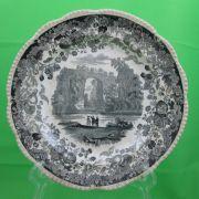Antique Enoch Wood Historical Transferware Virginia Plate