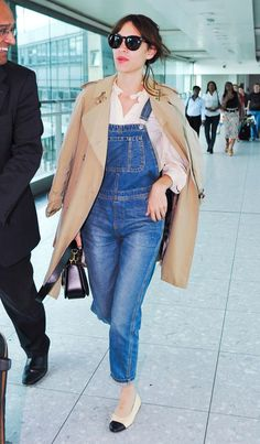Alexa Chung | 24 Celebrities Who Are Totally Rocking The Dungarees Trend Right Now
