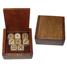 Wooden Dice Box and 8 Wooden Dice - List price: $13.95 Price: $10.50 Saving: $3.45 (25%) + Free Shipping