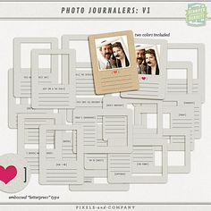 for PL - Photo Journalers: V.1 by Gennifer Bursett. Love these !!