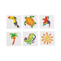 Tropical Tattoos - $5/72pcs OrientalTrading.com