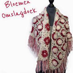 Omslagdoek gemaakt met flowerloom