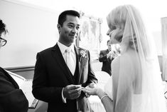 Sarah & Darwin May 2015 Exchanging vows in the Oak Room Photography by Hayley Farrugia
