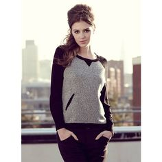 Metz jumper from Fever. Only Great for work worn with smart trousers or a relaxed weekend look with jeans. We love the tweed! Smart Casual Work Outfit, Black Trousers, Winter Collection, Tweed, Work Wear, Jumper, Sportswear, Sweaters, Pencil