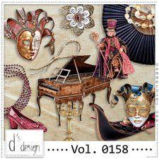 Vol. 0158 - Venice Masquerade Mix  by Doudou's Design  #CUdigitals cudigitals.com cu commercial digital scrap #digiscrap scrapbook graphics