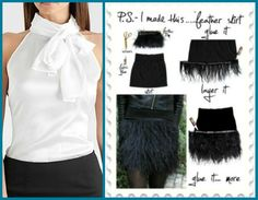 Kim K. in Givenchy Feathered Dress @ Teens Choice Awards : Get this look for less: Pair your DIY Ostrich Fringe Skirt with a simple halter top like this one by GUESS!
