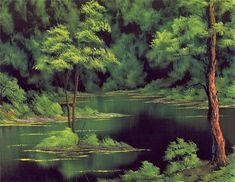 bob ross paintings | Bob Ross art/Emeral Waters