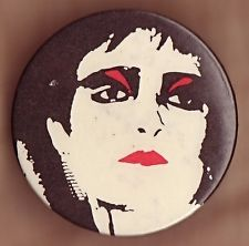 SIOUXSIE & THE BANSHEES Large Vintage 70's UK Punk Badge pin button.