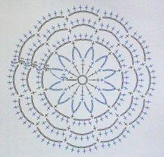 Coaster Crochet Circles, Crochet Squares, Crochet Doilies, Crochet Wool, Crochet Chart, Crochet Patterns, Crochet Stitches, Dream Catcher Tutorial, Mandala Rug