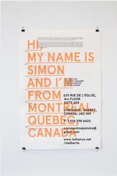 California by Simon Laliberté, via Behance Letterhead Design, Resume Design, Stationery Design, Typography Design, Branding Design, Graphic Design Cv, Web Design, Layout Design, Portfolio Web