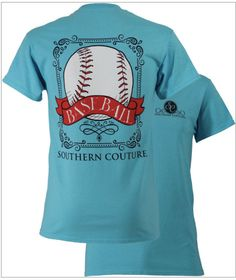 Southern Couture, like Simply Southern, Classic collection, Sky, Baseball, short sleeve tee shirt by ExpressYourselfbySta on Etsy