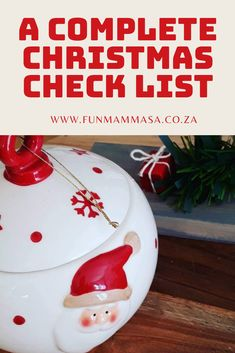 A complete Christmas Check list - Mamma & Bear