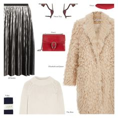 """""""Untitled #4257"""" by amberelb ❤ liked on Polyvore featuring Jil Sander, Elizabeth and James, The Row, Gucci, Toast and Oscar Tiye"""