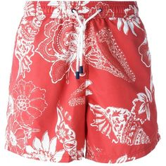 Etro floral swimming shorts Vitkac ❤ liked on Polyvore featuring swimwear, floral print swimwear, floral swimwear, swim trunks, floral swim trunks and floral print swim trunks