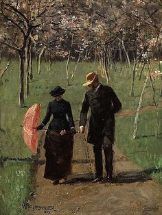 LOVE the lighting, brushwork and mood.    arsvitaest:  William Brymner, In the Orchard (Spring), 1892.