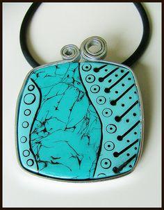 Océanique pendentif en polymère