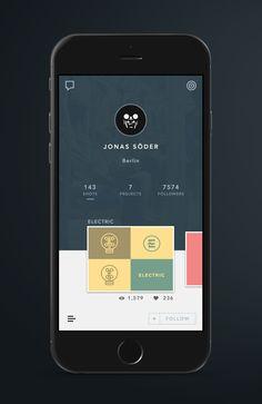 Profile - Martin David #mobile #UI