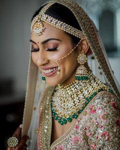 Bridal Poses, Bridal Portraits, Indian Wedding Jewelry, Bridal Jewelry, Indian Weddings, Indian Bridal, Bridal Accessories, Pink Bridal Lehenga, South Indian Bride