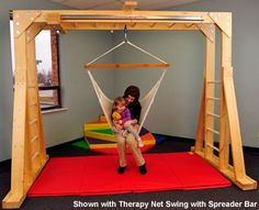 Indoor Therapy Gym | Swing & Swing Frames | e-Special Needs- this wouldn't be too hard to build yourself