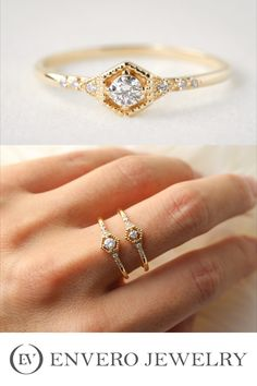 Small diamond ring with vintage desgin, created by Envero Jewelry. Small Diamond Rings, Unique Diamond Engagement Rings, Round Diamond Ring, Round Diamonds, Diamond Trade, Conflict Free Diamonds, Brilliant Diamond, Wedding Rings, Gemstones