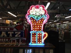 Vintage Neon Soda Fountain Sign