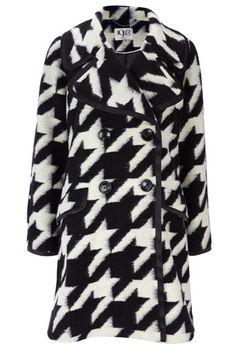 1923 Black & White Dogtooth Coat