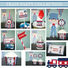 Train  Birthday Party Pack Personalized PDF File