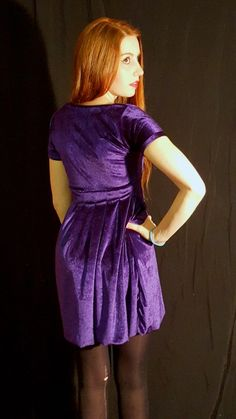 A purple velvet skater dress in South Africa for myself, and a tale of my first foray into the world of sewing with velvet. Dr Frankenstein, Velvet Skater Dress, Happy New Home, Purple Velvet, Match Making, Box Pleats, Big Black, High Neck Dress, Photoshoot