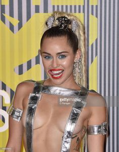 Miley Cyrus arrives to the 2015 MTV Video Music Awards at Microsoft Theater on August 30, 2015 in Los Angeles, California.